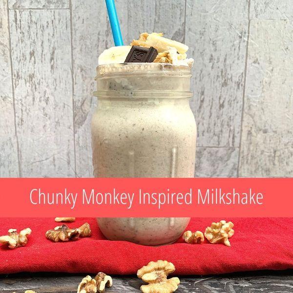 Chunky Monkey Inspired Milkshake