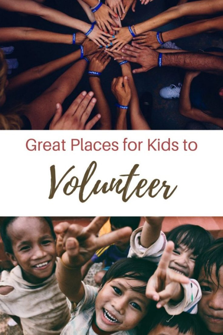 9 great places to let your kid volunteer