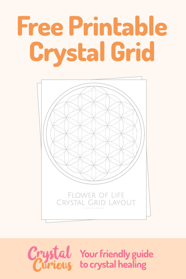 photograph about Printable Crystal Grid called Totally free Crystal Therapeutic Printables Applications Crystal Curious
