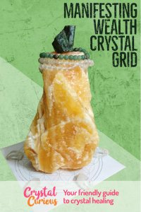 Manifesting Wealth Crystal Grid. Learn crystal healing at CrystalCurious.com #crystals #crystalhealing #crystalcurious