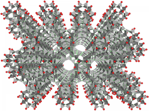 3D Crystalline Grid of Clinoptilolite Zeolite