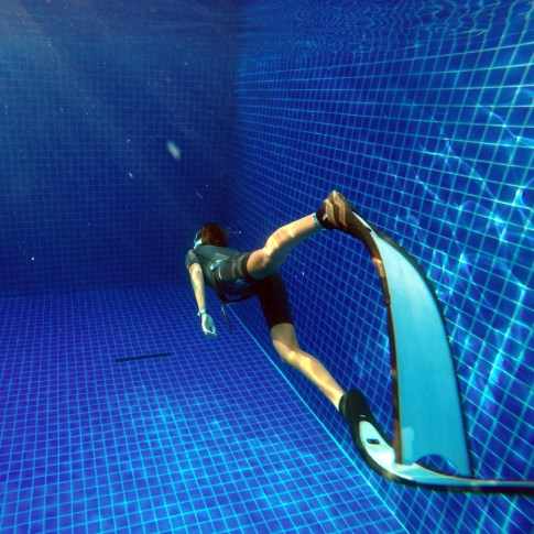Freediving pool training