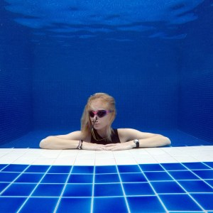 Freediver in the pool