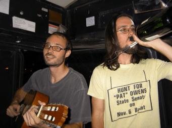 My two roommates, MDA and Joel Siegel