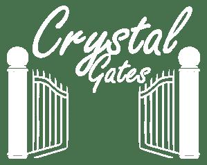 Crystal Gates Logo White