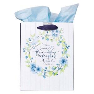 Proverbs 27:9 A Sweet Friendship (Medium Gift Bag)