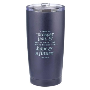 Jer 29:11 Plan To Prosper You Not To Harm You Plans To Give You Hope & Future (Stainless Steel Mug)