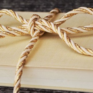 book, gift, cord