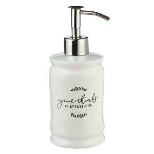 Give Thanks In Everything White (Ceramic Soap Dispenser)