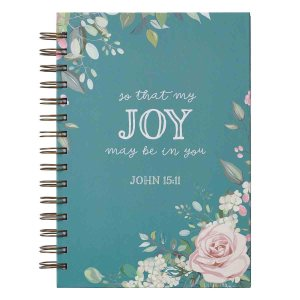 So That My Joy May Be In You (Large Hardcover Wirebound Journal)