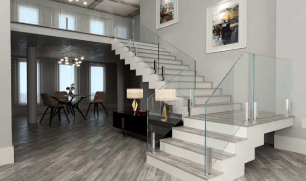 Glass Railing Systems By Crystalia Glass 718 690 0258   Glass Stair Rails And Banisters   Photo Gallery   Perspex   Thick Solid Oak Stair   Mirror   Stair Price