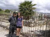 Michael Dennison and I on his birthday trip to Jbeil/Byblos with Maja and Ronald. This is a temple formed by Phoenician anchors that they placed here as offerings to the gods for their successful journey.