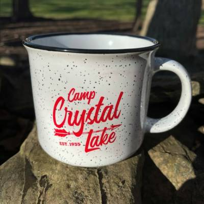 Camp Crystal Lake Campfire Mug - White