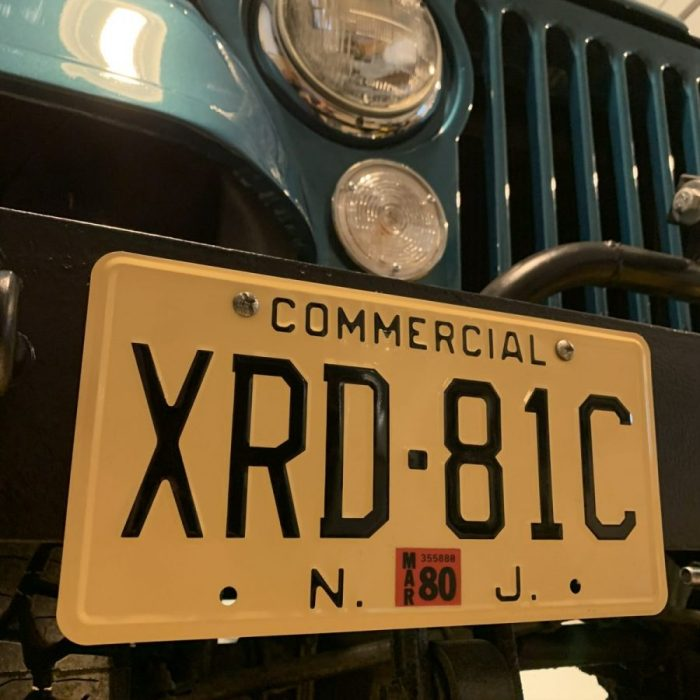 XRD-81C Souvenir License Plate