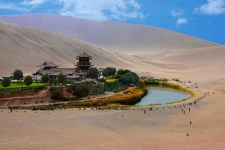 Crescent Lake in the Gobi of China