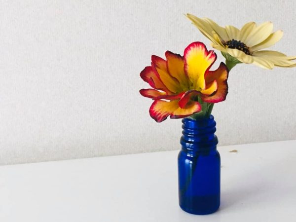 flower on a table