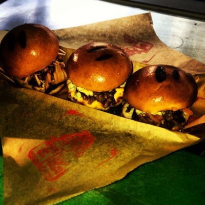 Ate: Meaty or veggie sliders