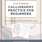 Free Calligraphy Alphabet Printable