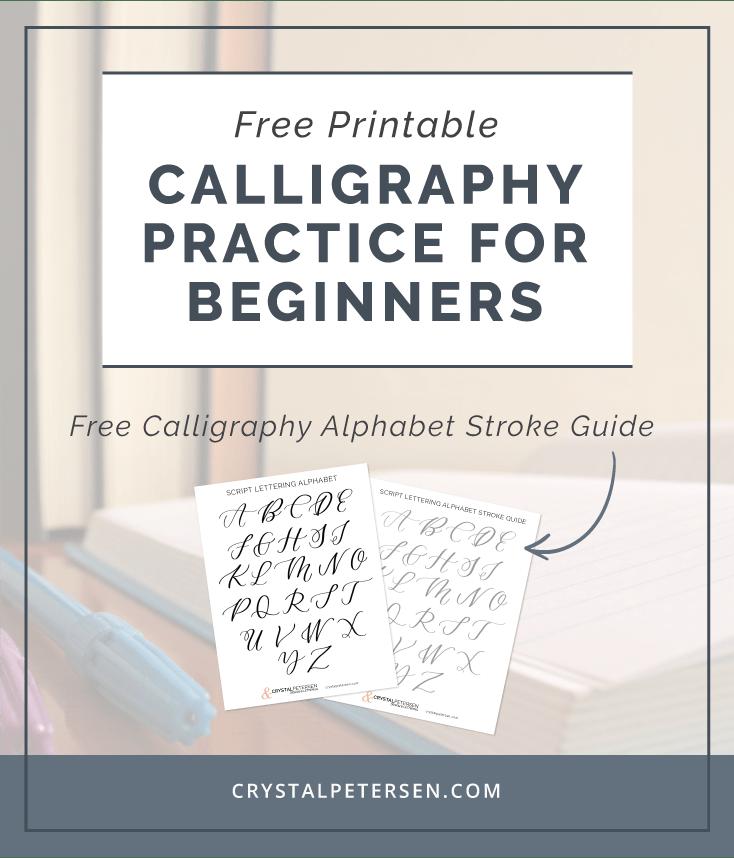 Free Calligraphy Alphabet Printable • Crystal Petersen