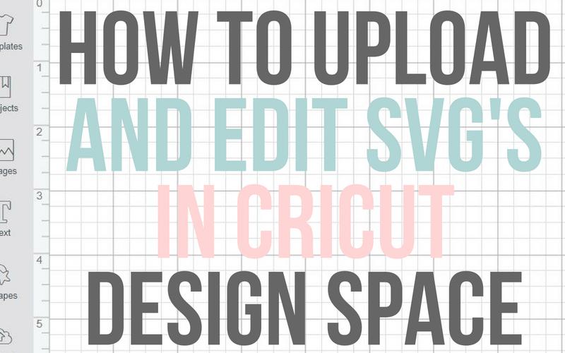 How to upload and edit a SVG file in Cricut Design Space #cricut #cricutforlife #cricuttutorials