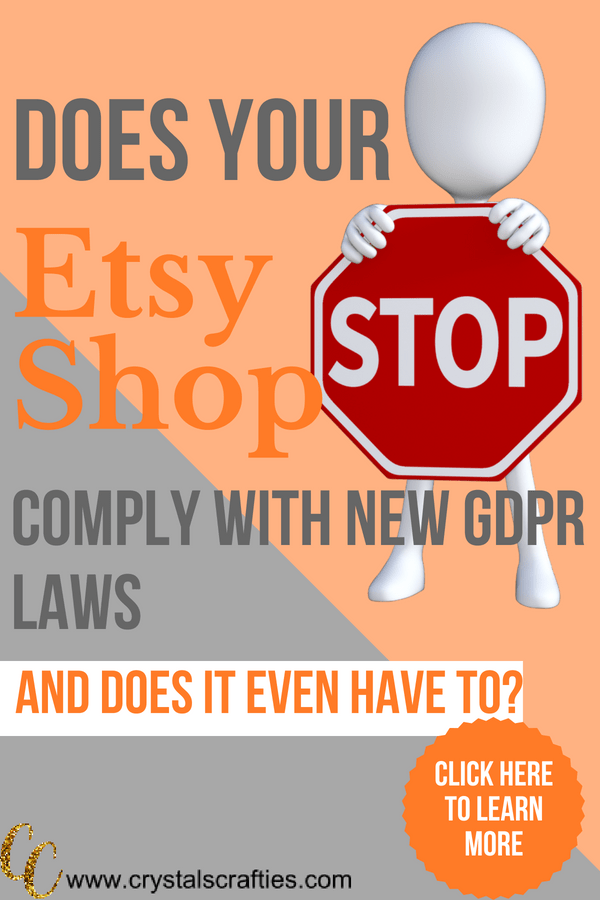 Does your Etsy Shop comply with the new GDPR laws (and does it even need to)