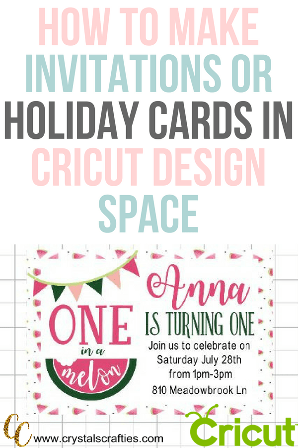 How to make birthday invitations and holiday cards in Cricut Design Space