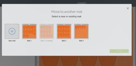 How to rearrange mats in Cricut Design Space