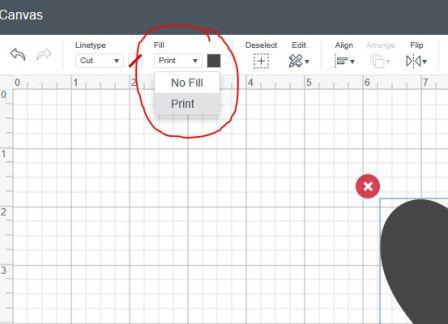 switch from cut to print in Cricut Design Space