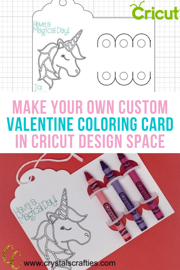 Make your own custom Valentine Coloring Card in Cricut Design Space