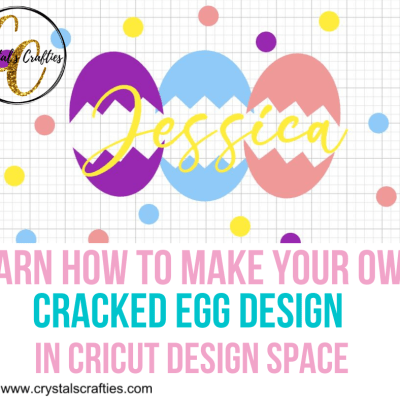 How to make a cracked egg design in Cricut Design Space