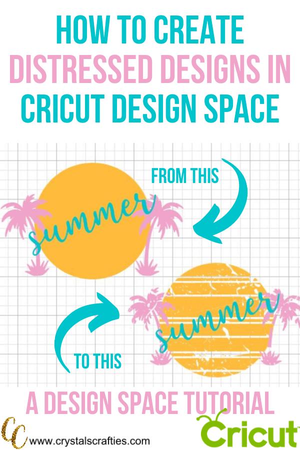 How to create distressed designs in Cricut Design Space