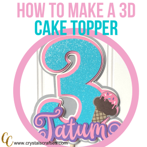 how to make a 3D cake topper