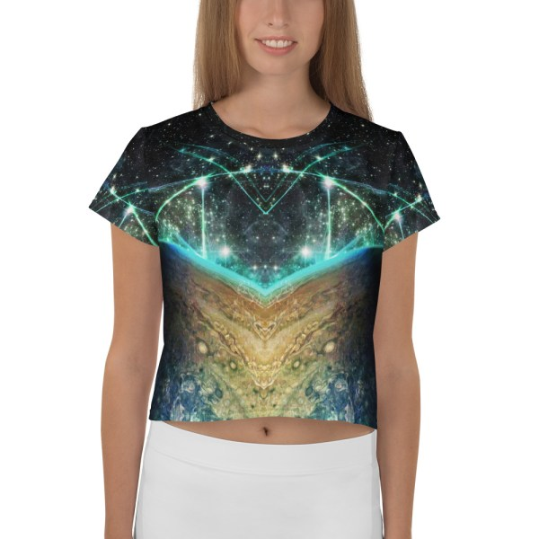 Jupiter Rising All-Over Print Crop Top