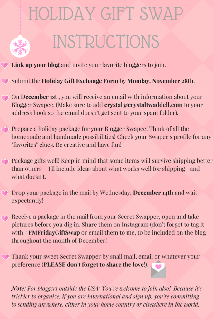 Blogger Holiday Gift Exchange - Crystal Twaddell