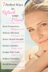 7 Ways to Refresh Your Mind Scriptures