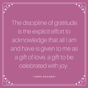 Discipline of Gratitude Quote