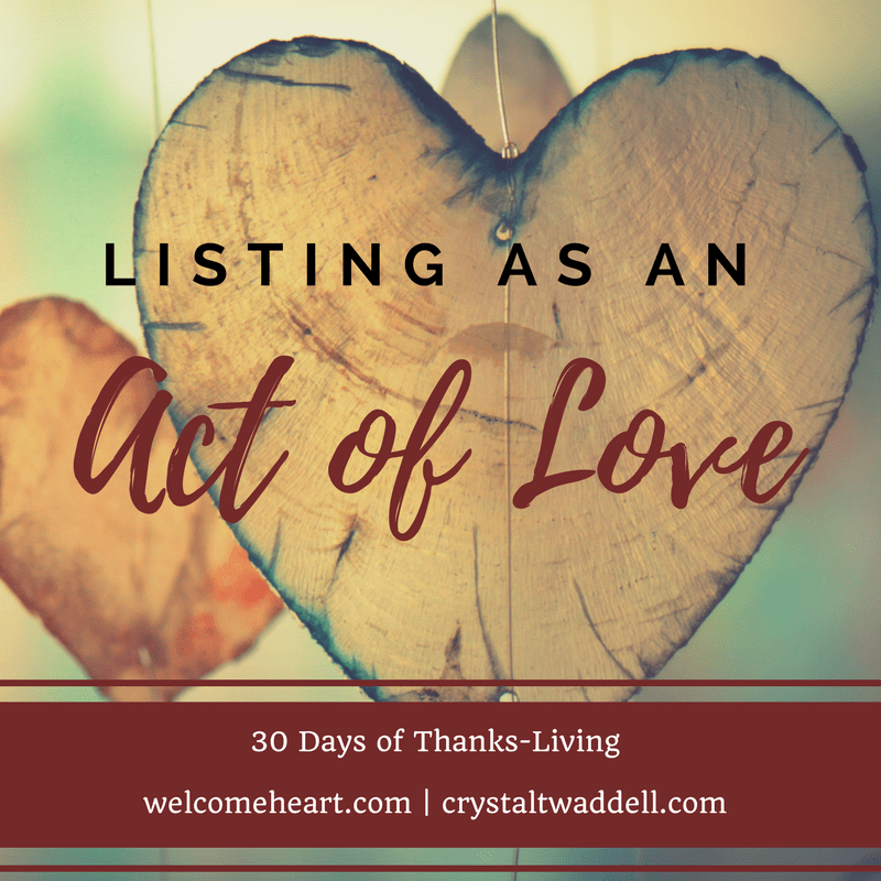 List Act of Love