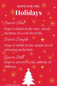 Hope in the Savoring