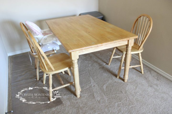 Kitchen Table and Chair Makeover