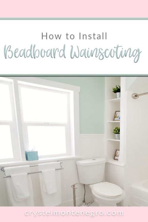 Install Beadboard Wainscoting, bathroom remodel, bathroom makeover, cottage bathroom