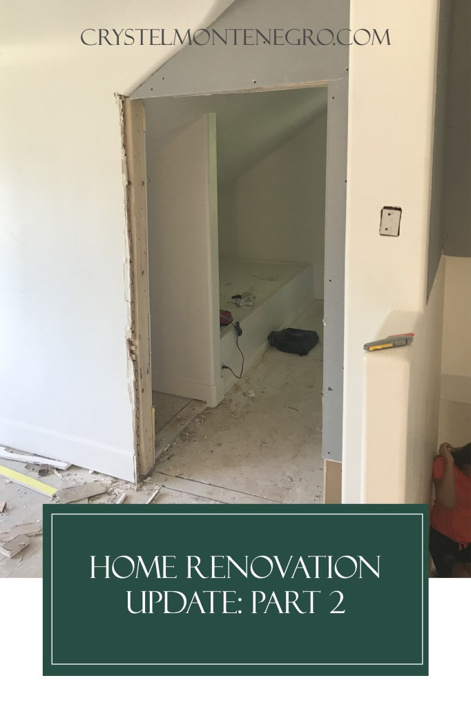 Pinterest Pin Image: Home Renovation Update part 2