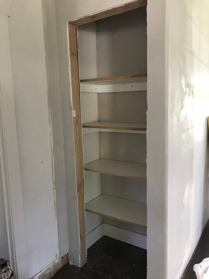finished shelving before paint