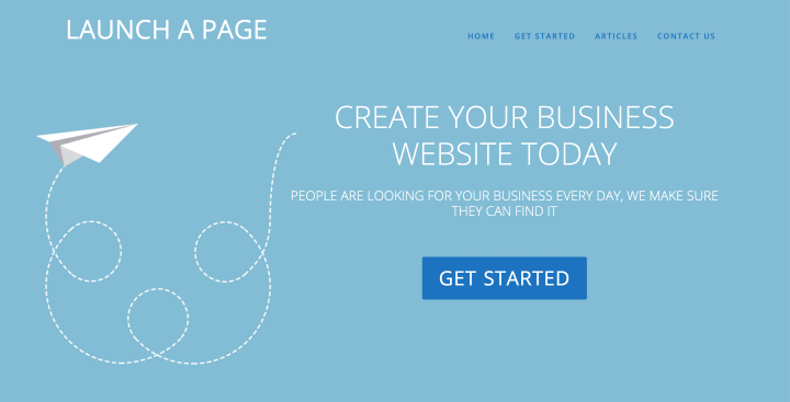 Launch A Page Builds custom professional websites for small businesses.