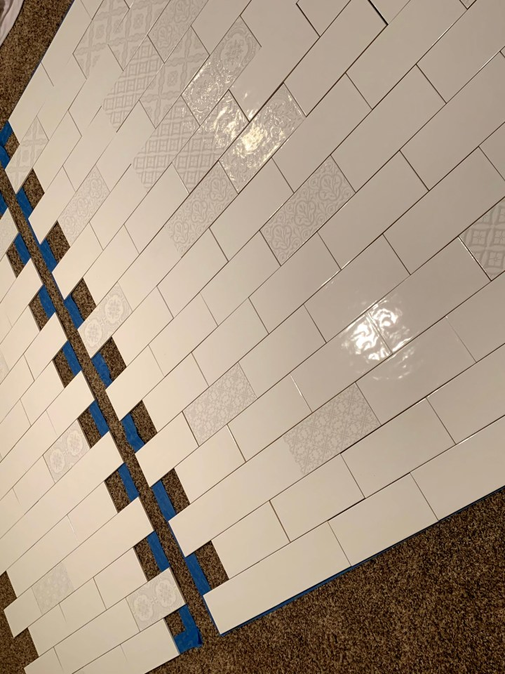 Deco tile placed strategically on the floor