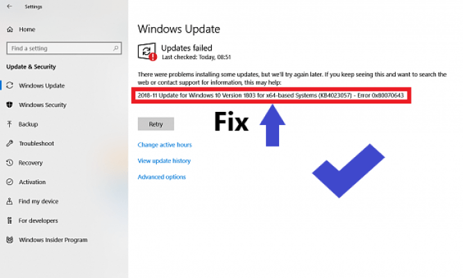 2018-11 update for windows 10 version 1803 for x64-based systems (kb4023057)