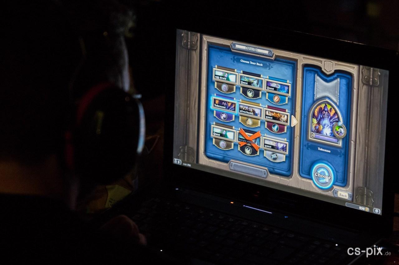Hearthstone-Turnier auf der Empore
