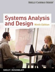 Chapter 6 CS Solutions   Systems Analysis And Design 9th Edition     Systems Analysis and Design 9th edition 9780538481618 0538481617