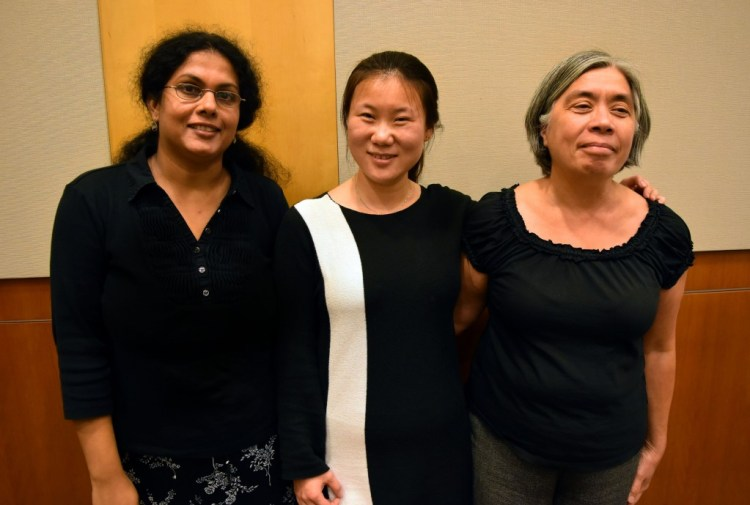 From the Left: Dr. Pushpa Kumar, Dr. Ranran Feng, and Dr. Linda Morales.