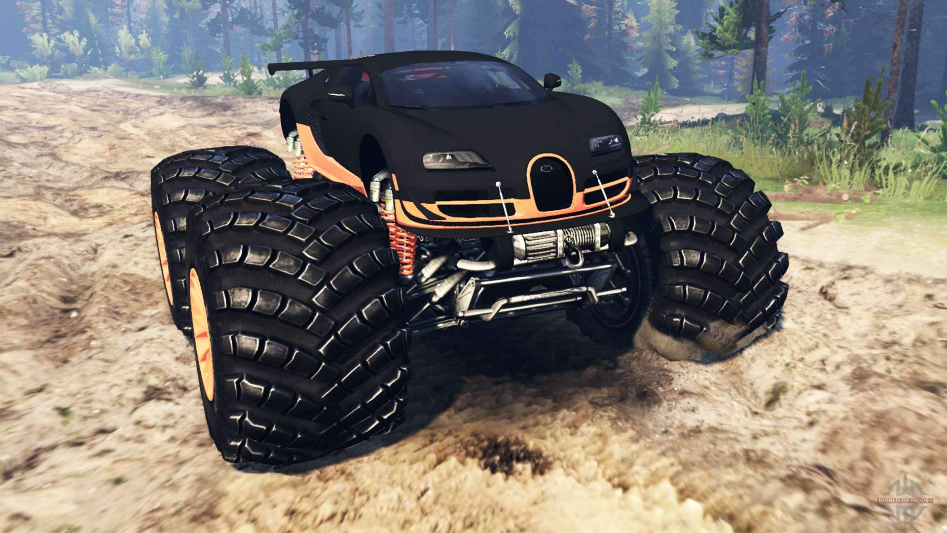 Bugatti Veyron SS Monster Truck For Spin Tires