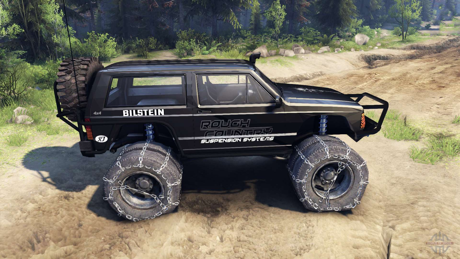 Jeep Cherokee XJ V13 Rough Country Black Pour Spin Tires